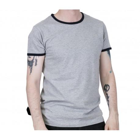Camiseta RELCO de Rayas - GRIS
