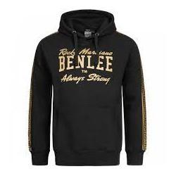 Men's Hooded Slim Fit Sweatshirt BEN LEE LEADVILLE - BLACK