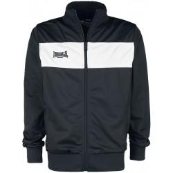 LONSDALE Men Tricot Jacket ALNWICK - BLACK / White